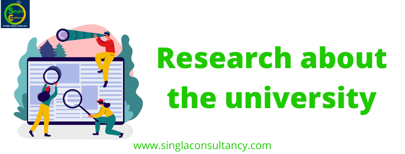 Research about the university